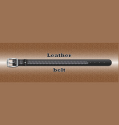 Leather belt on leather background vector