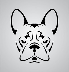 Little Dog Face Tribal vector image