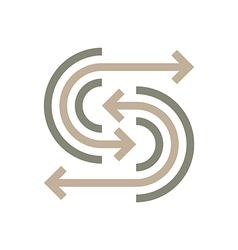 Logo Abstract Line Arrow Symbol Design Icon vector