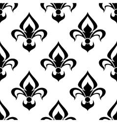 Modern fleur de lys background seamless pattern vector image