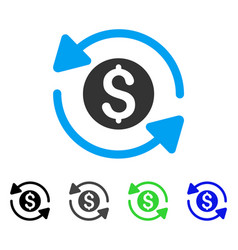 Money turnover flat icon vector