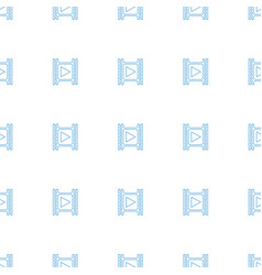 movie tape icon pattern seamless white background vector image