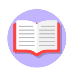 open book flat icon vector image