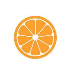 orange fruit icon in flat style orange citrus on vector image