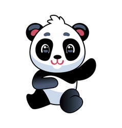 panda cute asian adorable bear seating china vector image