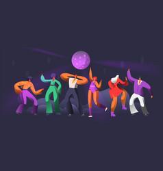 Party dancer character dance in nightclub disco vector