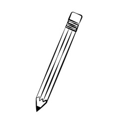 pencil school doodle vector image