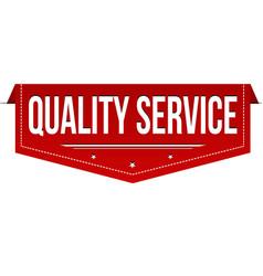 Quality service banner design vector