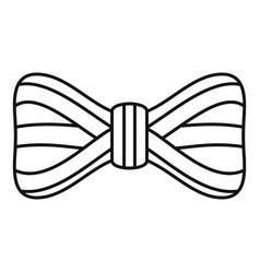 retro bow tie icon outline style vector image