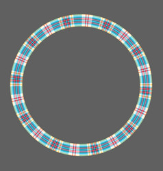 Round frame vintage pattern design template vector