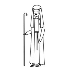 Saint joseph christmas character vector