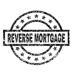 Scratched textured reverse mortgage stamp seal vector