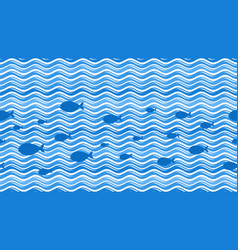 sea waves curve wave pattern water streaks and vector image