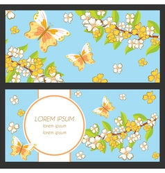 Set of greeting card vector image