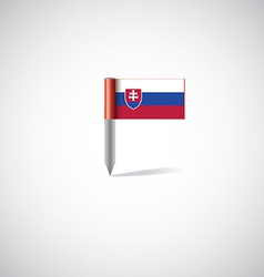 Slovakia flag pin vector