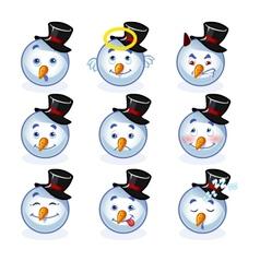 Smileys snowman vector