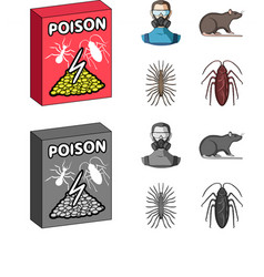 Staff packing with poison and pests cartoon vector