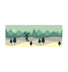 Summer landscape at night time summer scenery vector