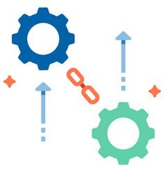 Supply chain development flat vector
