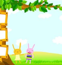 template tree rabbit vector image