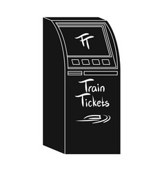 terminal for train tickets terminals single icon vector image