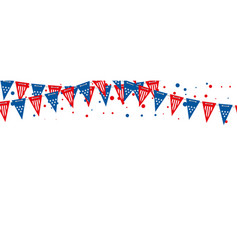 the usa flags banner triangle american vector image
