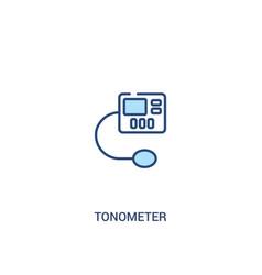 Tonometer concept 2 colored icon simple line vector