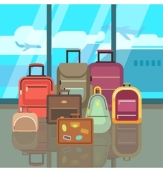 Vacation travelling concept with travel bags vector