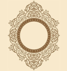 Vintage Floral Circle Ornament vector