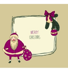 Vintage Metal Sign - Merry Christmas vector image