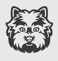 West Highland White Terrier Head Logo Mascot vector