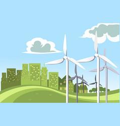 Wind turbines power vector