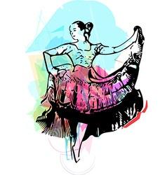 Woman dancing vector
