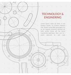 Abstract technology and engineering vector image