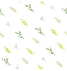 cute green branches background vector image vector image