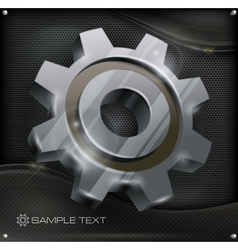 Gear on metal vector image vector image
