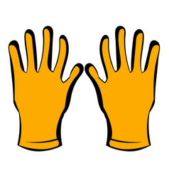 gloves of beekeeper icon icon cartoon vector image vector image