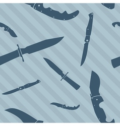 knives wallpaper vector image vector image
