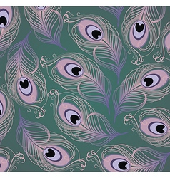 Peacock feather pattern vector image
