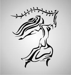 Tribal Virgo vector image vector image