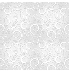 White festive seamless pattern vector image