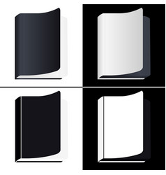 book icons set isolated pictogram of different vector image vector image