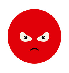 colorful emoticon furious face expression vector image