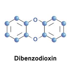 Dibenzodioxin heterocyclic organic compound vector