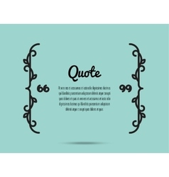 Quote frame card vector