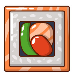 sushi traditional icon cartoon style vector image