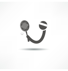 tennis player icon vector image vector image