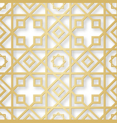 arabic seamless pattern with 3d effect for the vector image vector image