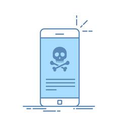 broken smartphone malware notification on vector image vector image