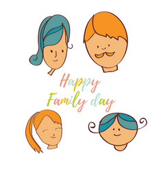Greeting card of the family day vector